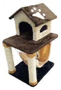 Arranhador casa com rede - Mad-Cat Arranhadores - 60x50x90cm