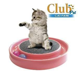 Arranhador plastico cat park vermelho - Club Pet Duplas - 37x37x7cm
