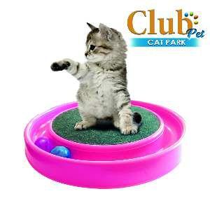 Arranhador plastico cat park rosa - Club Pet Duplas - 37x37x7cm