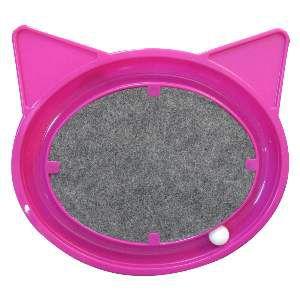 Brinquedo plast super cat relax - Rosa - Furacao Pet - 44x40x5cm