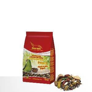 Racao mistura com frutas para papagaios 500g - Minas Nutri - com 10 unidades