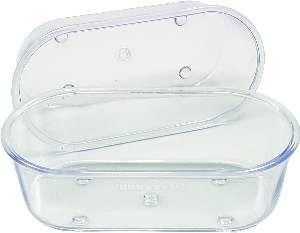 Banheira plastica cristal pequena 130ml - Humberald - 11,5x5,7x3,5cm