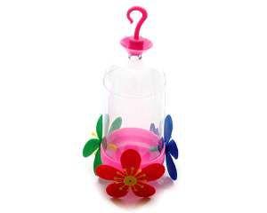 Bebedouro plastico beija-flor violeta 220ml - Club Pet Alvorada - com 12 unidades - 13,5x20cm