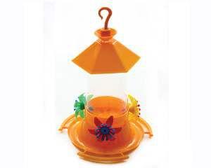 Bebedouro plastico beija-flor telha 200ml - Alvorada - com 6 unidades - 13,5x20cm