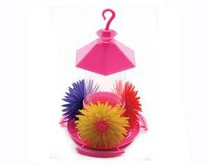 Bebedouro plastico beija-flor com telha 220ml - Club Pet Alvorada - com 6 unidades - 13,5x20cm