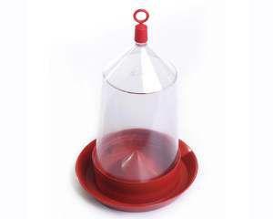 Bebedouro plastico pintos e codornas 800ml - Alvorada - com 6 unidades - 15x23cm