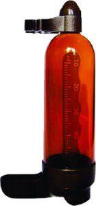Bebedouro plastico médio ambar 90ml - Plast Pet - com 12 unidades - 7x4x14,3cm
