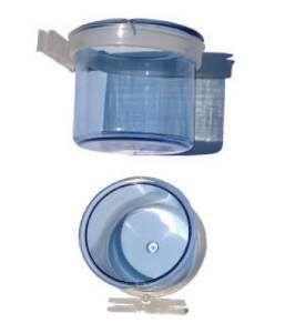 Porta vitamina plastico pixarro com trava azul - Beneh Dog - com 12 unidades