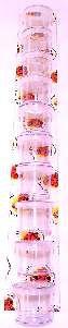 Porta vitamina plastica cristal com trava - Beneh Dog - com 10 unidades