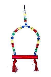 Brinquedo madeira poleiro micanga M - Club Still Pet - 12 x 1,2 x 28,5cm