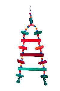 Brinquedo madeira escada circo - Club Still Pet - 15 x 1,2 x 38cm