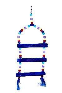 Brinquedo madeira escada micanga 3P - Club Still Pet - 12 x 1,2 x 37cm