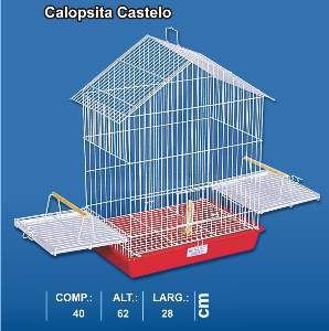 Gaiola arame castelo calopsita vermelha - Monaco - 28x40x62cm