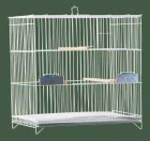 Gaiola arame e chapa de aco criadeira para calopsita - Londrigaiolas - 60 cm x 59 cm x 40 cm