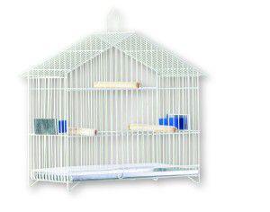 Gaiola arame e chapa de aco capela para aves - Londrigaiolas - 36 cm x 35 cm x 17 cm