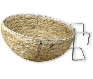 Ninho juta/arame canario porte especial - Ninhos Emerson - c/ 10 un