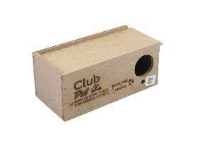 Ninho madeira periquito - Club Pet Galli - com 10 unidades - 21x10x9cm