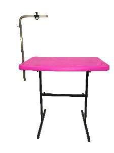 Mesa para tosa com suporte aco rosa - Click New - 91x61x83cm - prancha: 5cm
