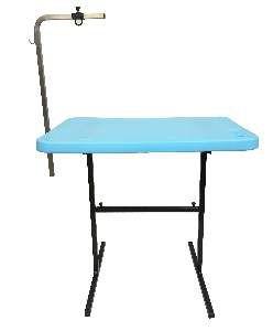 Mesa para tosa com suporte aco azul - Click New - 91x61x83cm - prancha: 5cm