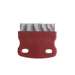 Pente plastico com cerdas de aco antipulgas - Home Pet - 6,1x5,6cm