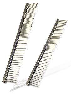 Pente aco cromado 54 dentes - 24/30 - American Pet's - 16,5x2,8cm
