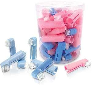 Escova dedal com cerdas nylon - American Pet's - com 50 unidades - 4cm