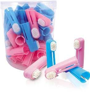Escova dedal com cerdas de borracha - American Pet's - com 50 unidades - 4cm