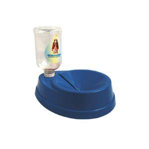 Bebedouro plastico pelos longos azul 500ml - Four Plastic - 25x20x14cm
