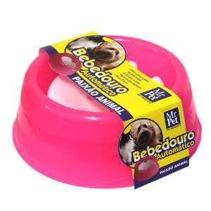 Bebedouro Automático para Cães e Gatos com Bóia - Mr Pet - 1 L - Rosa