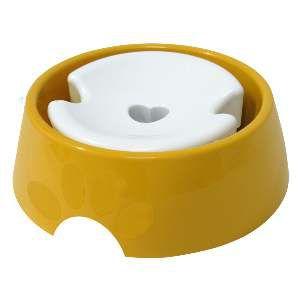 Bebedouro plastico pop pelos longos 1L - Furacão Pet - Amarelo - 21x21x6cm