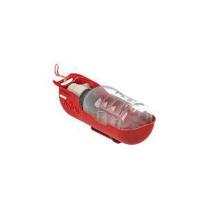 Bebedouro Portátil Pet Drinks vermelho 300ml - Plast Pet - 20,2x8,6x8,3cm
