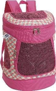Mochila de transporte poliester rosa - Sak's - 28x42x22cm