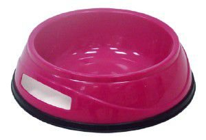 Comedouro plastico antiderrapante N1 - 300g - Chalesco - 13x5cm