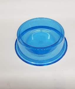 Comedouro plastico anti formiga com glitter azul 1900ml - Pet Toys - 22x8cm