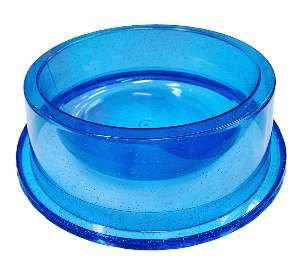 Comedouro plastico anti formiga com glitter azul 300ml - Pet Toys - 17x5cm