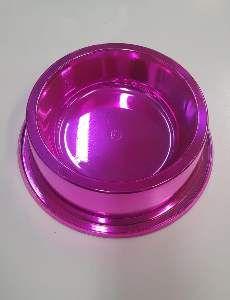 Comedouro plastico anti formiga prime rosa 1900ml - Pet Toys - 22x8cm
