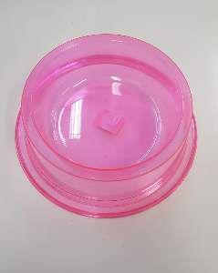 Comedouro plastico anti formiga exclusiva rosa 1900ml - Pet Toys - 22x8cm