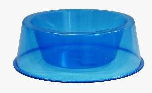 Comedouro plastico com glitter azul 1000ml - Pet Toys - 17x5cm