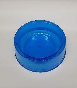Comedouro plastico com glitter azul 1900ml - Pet Toys - 22x8cm
