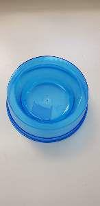 Comedouro plastico simples azul transparente 300ml - Pet Toys - 8x6cm