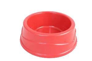 Comedouro plastico vermelho 500ml - Four Plastic - 21x17,5x7cm