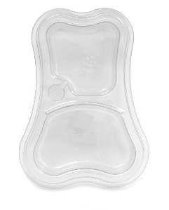 Comedouro plastico duplo com glitter cristal 460/300ml - Pet Toys - 31x6cm