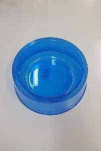 Comedouro plastico exclusiva azul 1900ml - Pet Toys - 22x8cm