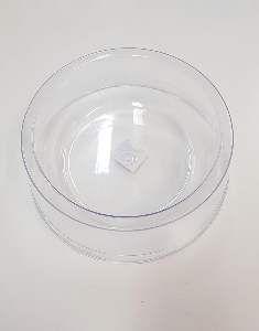 Comedouro plastico exclusiva cristal 1900ml - Pet Toys - 22x8cm