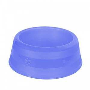 Comedouro Luxo Filhote Grande - Mr Pet - 450 ml - Azul