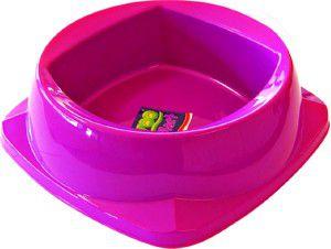 Comedouro plastico zooplast gigante 2500ml - Plast Pet - 29x29x9cm