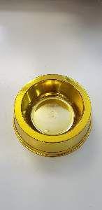 Comedouro plastico prime simples ouro 300ml - Pet Toys - 8x6cm