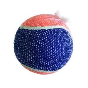 Brinquedo borracha/tecido bola de tenis médio 3un - Home Pet - 6,4cm