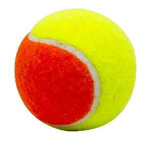Brinquedo borracha/la bola bicolor de tenis - LCM - 55mm