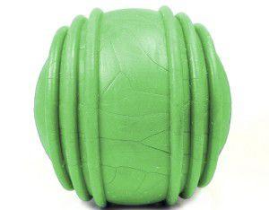Brinquedo borracha macica bola com friso colorida 85mm - Furacao Pet - 8,5x8,5x8,5cm